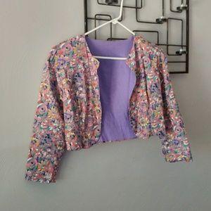 Vintage cropped floral jacket
